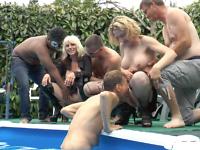 Cramage de vieilles chattes à la piscine