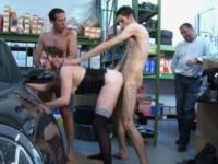 On baise l'épouse d'un patron de PME sur le sol en béton d'un de ses ateliers !