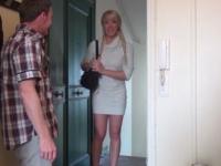 Une salope blonde du Gard !