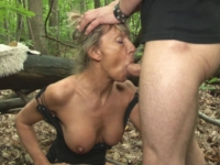 Grosse pute de 48 ans enculée en forêt ! (vidéo exclusive)