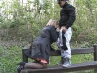 Sophia, sage mère de famille, enculée sur un banc dans un parc ! (vidéo exclusive)