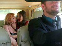 Le chauffeur encule ses patronnes sur la Rolls familiale
